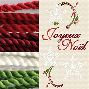 CHRISTMAS Shade Pack - Assorted Aurifil embroidery threads