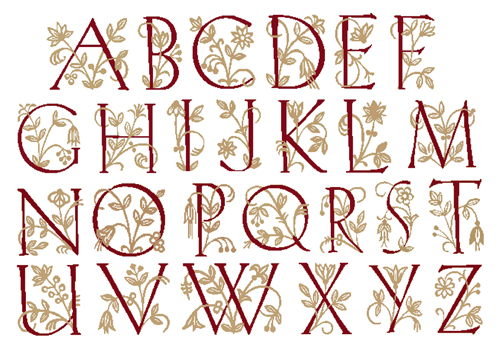 Counted Cross Stitch Alphabet Patterns