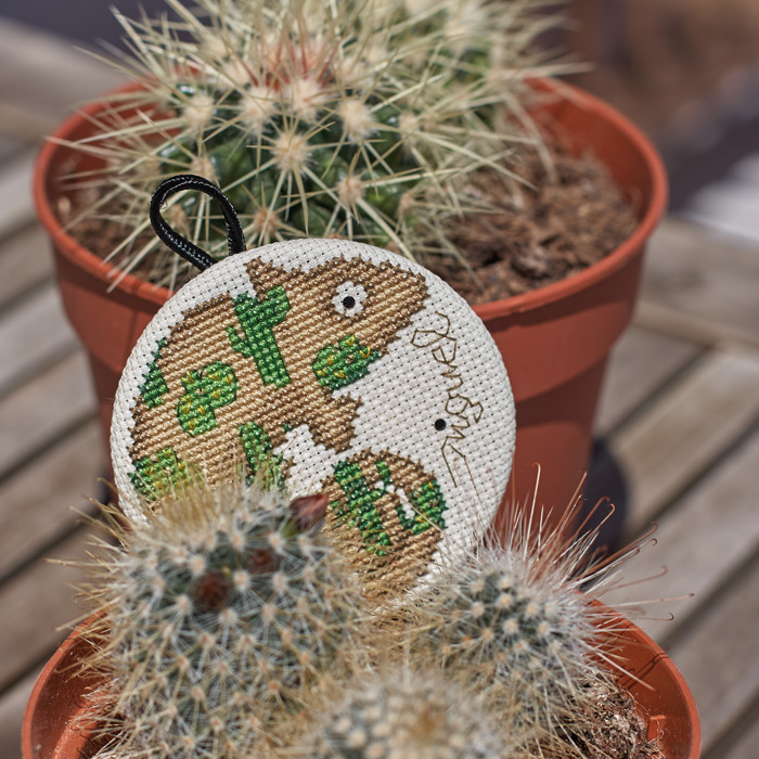 Kit de broderie au point de croix MIGUEL Cactus