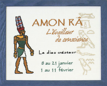 AMON RA - Kit à broder au point de croix