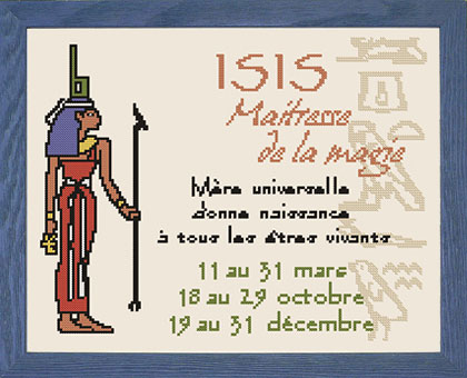 ISIS - Kit de broderie au point de croix